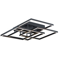 ET2 E21518-BK Traverse LED 31 inch Black Flush Mount Ceiling Light