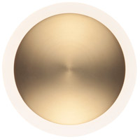 ET2 E21540-90BKGLD Saucer LED 7 inch Black and Gold ADA Wall Sconce Wall Light photo thumbnail