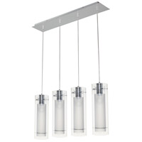 Frost 4 Light 30 inch Polished Chrome Linear Pendant Ceiling Light
