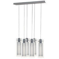 ET2 E22002-10 Frost 6 Light 28 inch Polished Chrome Linear Pendant Ceiling Light