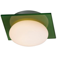 Buttons 1 Light 6 inch Brushed Aluminum Wall Sconce Wall Light in Green/White