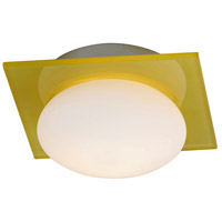 ET2 E22022-32 Buttons 1 Light 6 inch Brushed Aluminum Wall Sconce Wall Light in Yellow/White