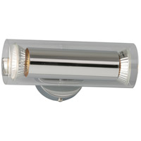 Flash 2 Light 7 inch Polished Chrome Wall Sconce Wall Light