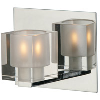 ET2 E22031-18 Blocs 1 Light 6 inch Polished Chrome Bath Light Wall Light in 6 in.