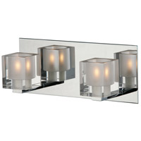 ET2 E22032-18 Blocs 2 Light 12 inch Polished Chrome Bath Light Wall Light in 11.5 in.