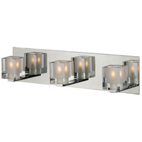 ET2 E22033-18 Blocs 3 Light 20 inch Polished Chrome Bath Light Wall Light in 19.5 in.