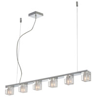 ET2 E22034-18 Blocs 6 Light 36 inch Polished Chrome Linear Pendant Ceiling Light
