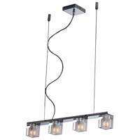 ET2 E22035-18 Blocs 4 Light 24 inch Polished Chrome Linear Pendant Ceiling Light
