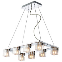ET2 E22036-18 Blocs 8 Light 12 inch Polished Chrome Pendant Ceiling Light