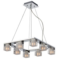 ET2 E22037-18 Blocs 8 Light 17 inch Polished Chrome Pendant Ceiling Light