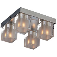 ET2 E22038-18 Blocs 4 Light 8 inch Polished Chrome Flush Mount Ceiling Light