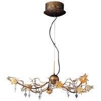 ET2 Contemporary Lighting Flora 8-Light Chandelier in Brushed Bronze E22051-20 photo thumbnail
