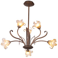 ET2 E22063-26 Bloom 6 Light 22 inch Antique Bronze Chandelier Ceiling Light