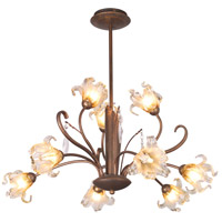 ET2 E22064-26 Bloom 9 Light 28 inch Antique Bronze Chandelier Ceiling Light