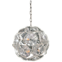 Fiori 8 Light 12 inch Polished Chrome Pendant Ceiling Light in Clear Murano