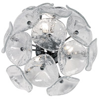 Fiori 3 Light 14 inch Polished Chrome Wall Sconce Wall Light in Clear Murano