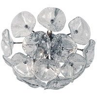 Fiori 8 Light 17 inch Polished Chrome Flush Mount Ceiling Light in Clear Murano