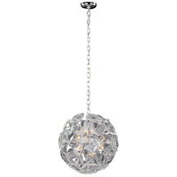 ET2 E22093-28 Fiori 12 Light 20 inch Polished Chrome Pendant Ceiling Light in Clear Murano