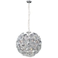 ET2 E22094-28 Fiori 20 Light 23 inch Polished Chrome Pendant Ceiling Light in Clear Murano