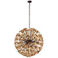 Fiori 28 Light 32 inch Bronze Single Pendant Ceiling Light in Amber Murano