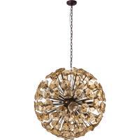 ET2 E22096-26 Fiori 28 Light 32 inch Bronze Single Pendant Ceiling Light in Amber Murano