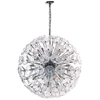 Fiori 28 Light 32 inch Polished Chrome Single Pendant Ceiling Light in Clear Murano
