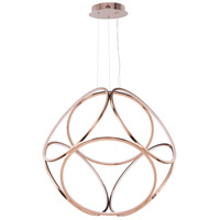 ET2 E22126-RG Form LED 35 inch Rose Gold Suspension Pendant Ceiling Light