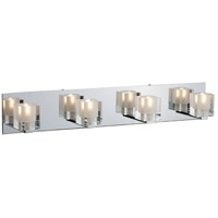 Blocs 4 Light 28 inch Polished Chrome Bath Light Wall Light in 27.5 in.