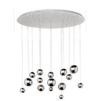 Bollero LED 40 inch Polished Chrome Multi-Light Pendant Ceiling Light