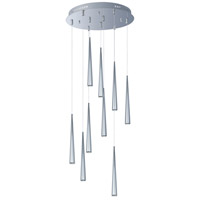 Taper LED 19 inch Polished Chrome Multi-Light Pendant Ceiling Light