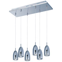 Bullet LED 24 inch Polished Chrome Linear Pendant Ceiling Light