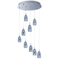 Bullet LED 19 inch Polished Chrome Multi-Light Pendant Ceiling Light
