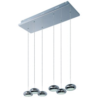 Dial LED 24 inch Polished Chrome Linear Pendant Ceiling Light