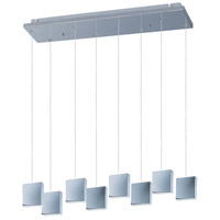 ET2 E22264-61PC Brick LED 6 inch Polished Chrome Multi-Light Pendant Ceiling Light