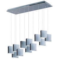 ET2 E22268-61PC Brick LED 38 inch Polished Chrome Linear Pendant Ceiling Light