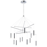 ET2 E22277-75PC Picolo LED 35 inch Polished Chrome Multi-Light Pendant Ceiling Light