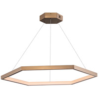 ET2 E22285-BCN Hex LED 40 inch Brushed Champagne Suspension Pendant Ceiling Light