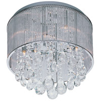 ET2 E22293-18PC Gala 9 Light 17 inch Polished Chrome Flush Mount Ceiling Light
