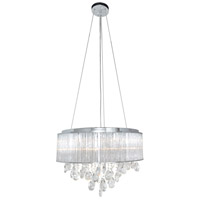 Gala 10 Light 17 inch Polished Chrome Single Pendant Ceiling Light