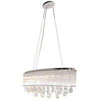 ET2 E22298-18PC Gala 7 Light 10 inch Polished Chrome Single Pendant Ceiling Light