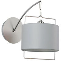 ET2 Passion 1 Light Wall Sconce in Satin Nickel and Polished Chrome E22311-01