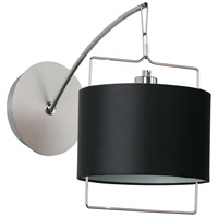 ET2 Passion 1 Light Wall Sconce in Satin Nickel and Polished Chrome E22311-02 photo thumbnail