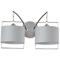 ET2 Passion 2 Light Wall Sconce in Satin Nickel and Polished Chrome E22312-01 photo thumbnail