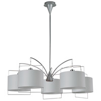ET2 Passion 5 Light Chandelier in Satin Nickel and Polished Chrome E22316-01 photo thumbnail