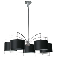 ET2 Passion 5 Light Chandelier in Satin Nickel and Polished Chrome E22316-02 photo thumbnail