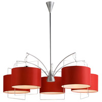 ET2 Passion 5-Light Chandelier in Satin Nickel and Polished Chrome E22316-03 photo thumbnail