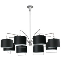 ET2 Passion 8-Light Chandelier in Satin Nickel and Polished Chrome E22317-02 photo thumbnail