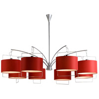 ET2 Passion 8-Light Chandelier in Satin Nickel and Polished Chrome E22317-03