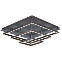 Quad LED 30 inch Bronze Flush Mount Ceiling Light