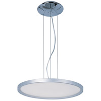 Moonbeam LED 20 inch Metallic Silver Single Pendant Ceiling Light